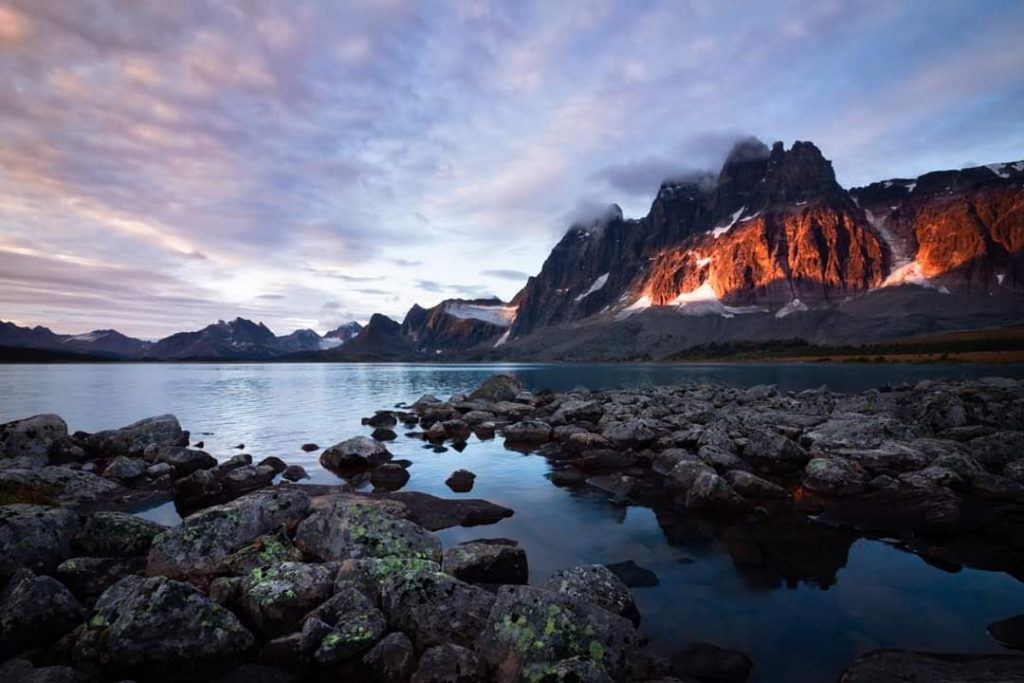 tonquin valley ramparts sunrise jasper canada