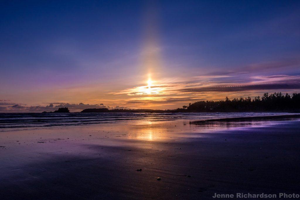 sunset tofino bc vancouver island