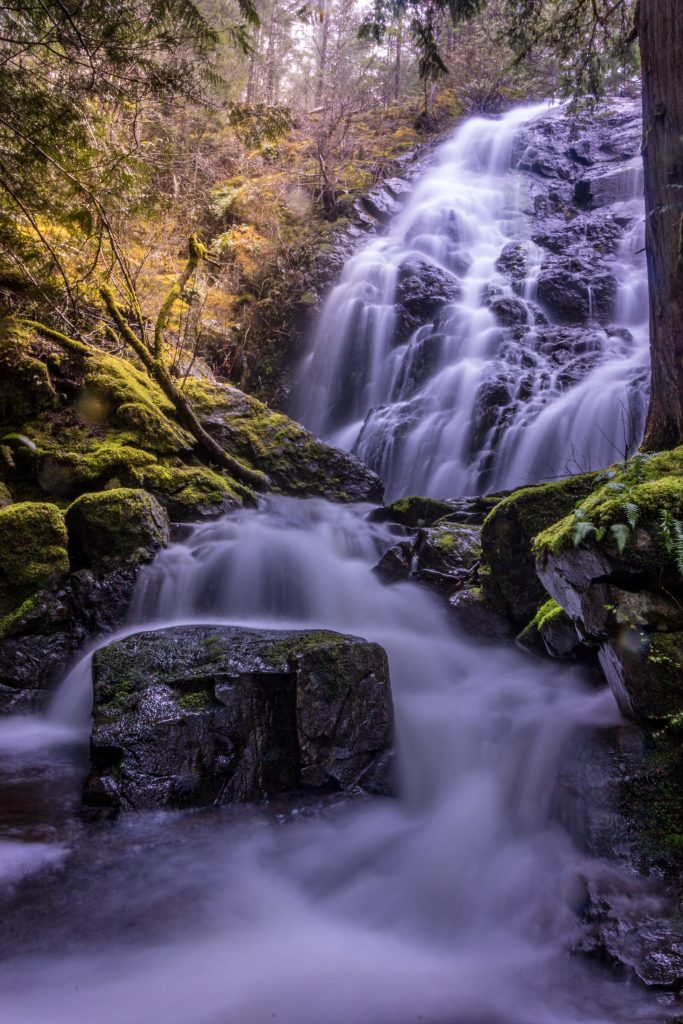 waterfall vancouver island landscape photography mary vine falls sooke potholes