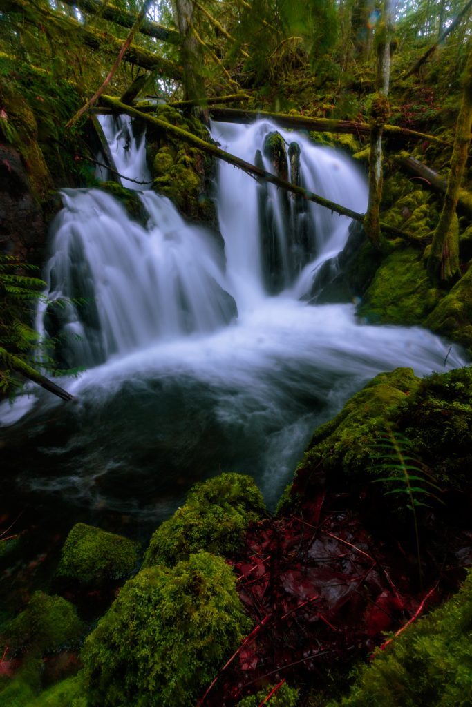 waterfall vancouver island landscape photography
