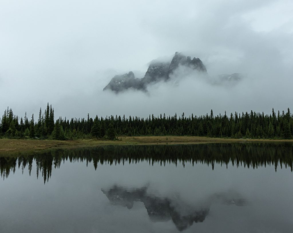 tonquin valley jasper alberta ramparts reflection
