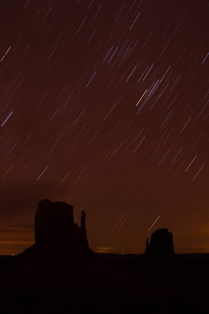 Monument Valley Star Trails Photography