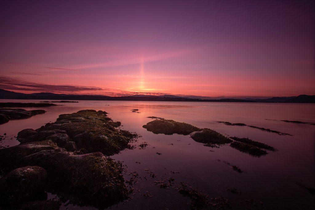 vancouver island sunset Victoria north saanich