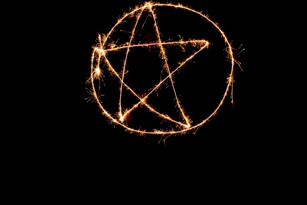 pentacle sparkler photography