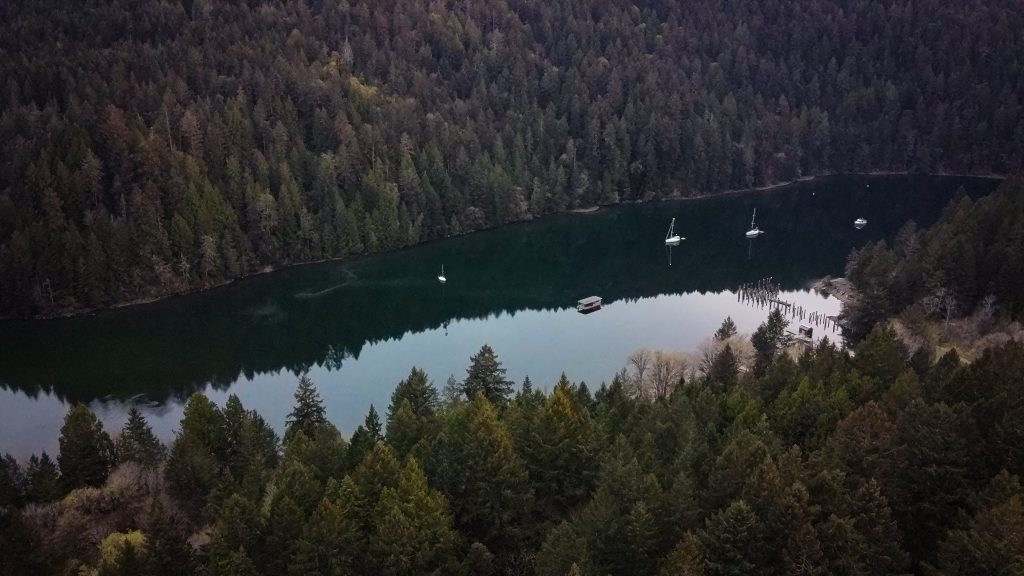 Tod Inlet Drone photography vancouver island