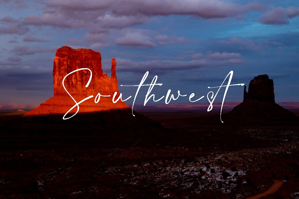 arizona american southwest sunset monument valley