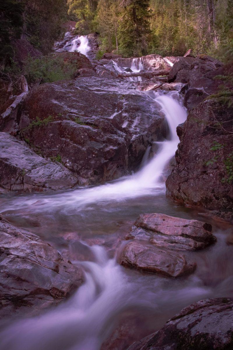 tahsis bc vancouver island cala falls
