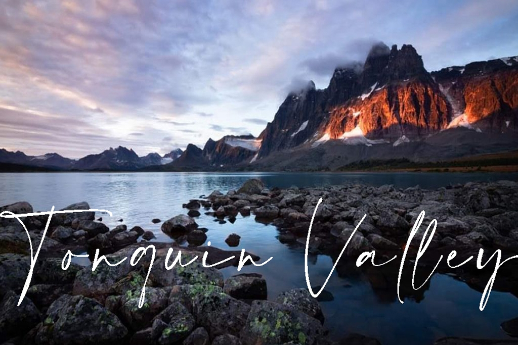 Tonquin backcountry lodge ramparts at sunrise