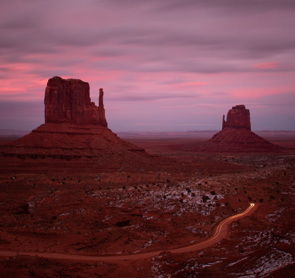mittens at sunset monument valley johnson ranch san tan valley